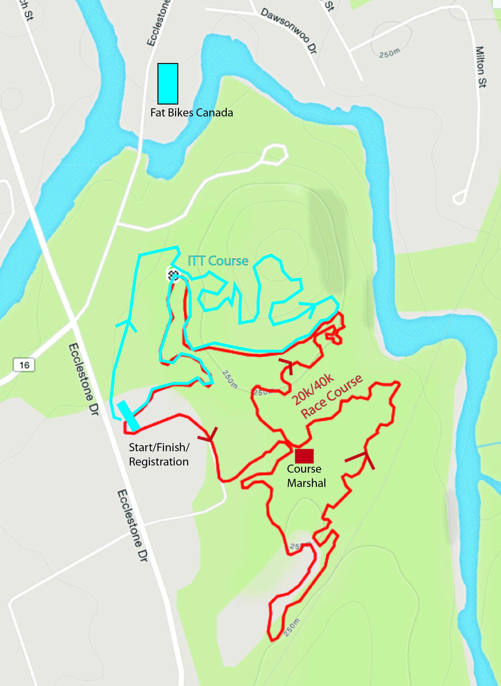 course map Fat Brace