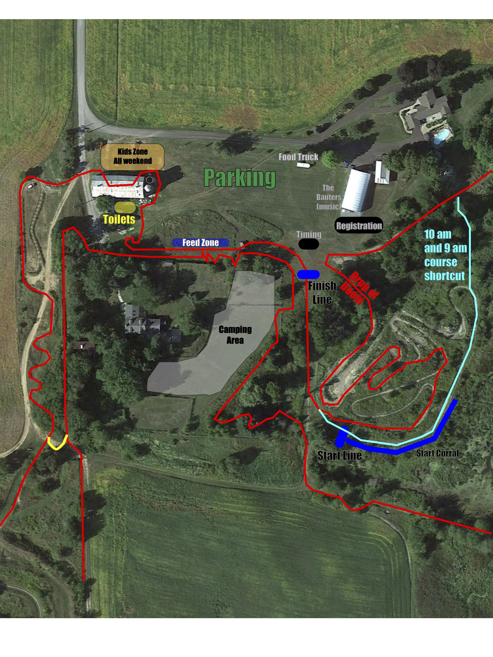 close up course map